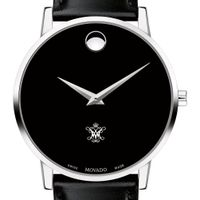 College of William & Mary Men's Movado Museum with Leather Strap
