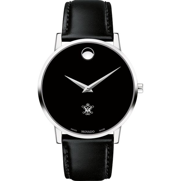 College of William & Mary Men's Movado Museum with Leather Strap - Image 2