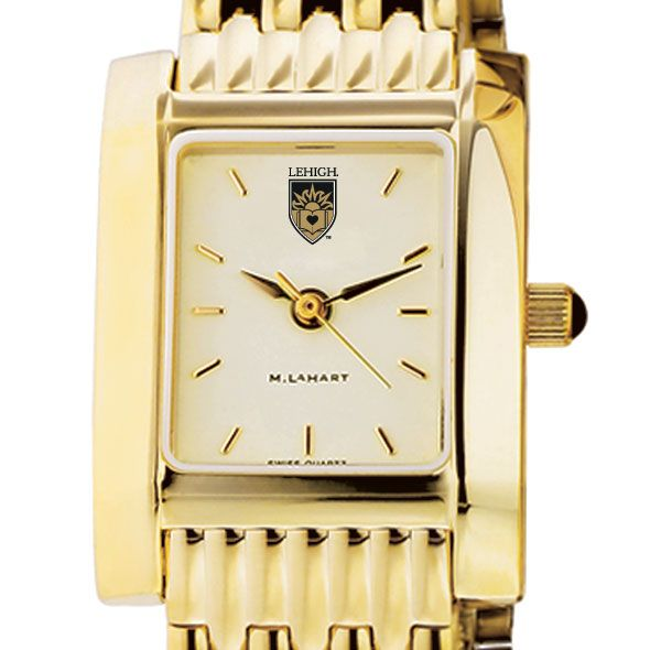 Lehigh Women's Gold Quad Watch with Bracelet