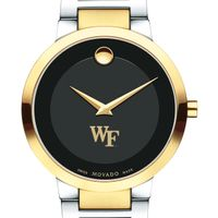 Wake Forest University Men's Movado Two-Tone Modern Classic Museum with Bracelet