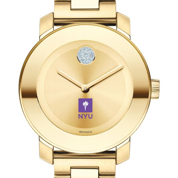 New York University Women's Movado Gold Bold