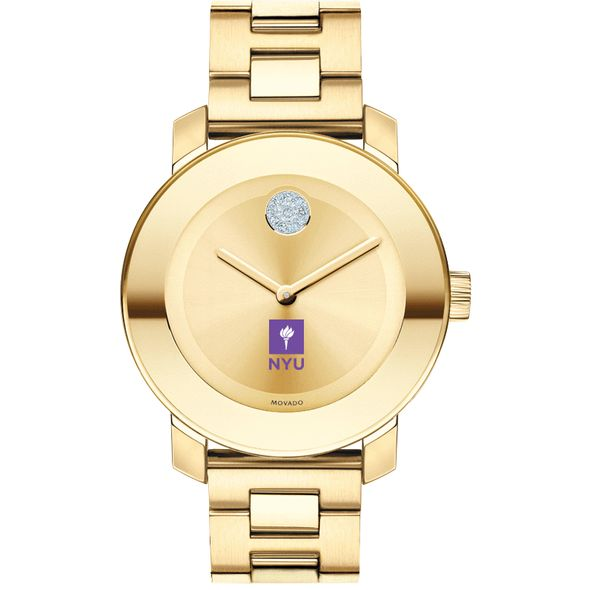 New York University Women's Movado Gold Bold - Image 2