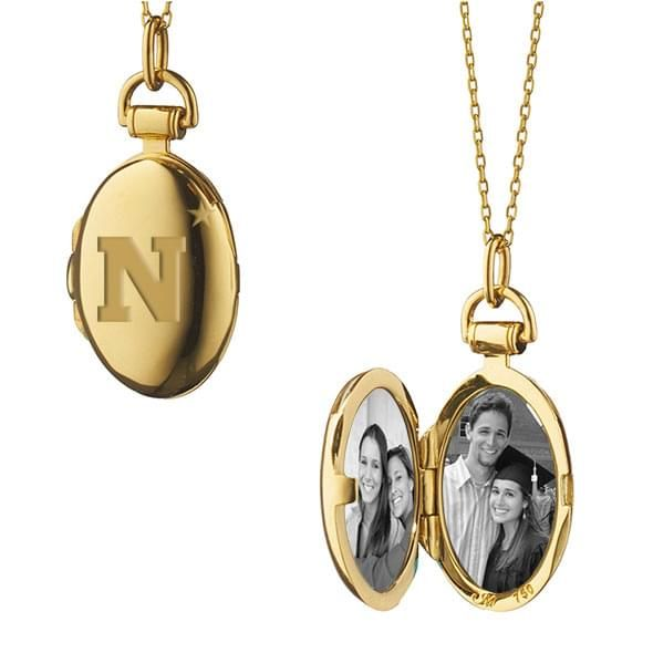Naval Academy Monica Rich Kosann Petite Locket in Gold - Image 2