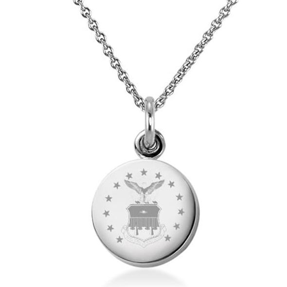 US Air Force Academy Necklace with Charm in Sterling Silver