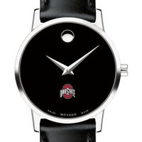 Ohio State Women's Movado Museum with Leather Strap