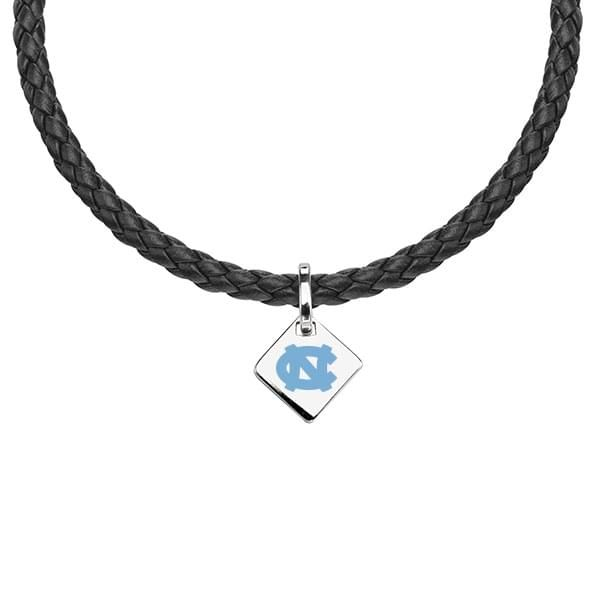 North Carolina Leather Necklace with Sterling Silver Tag