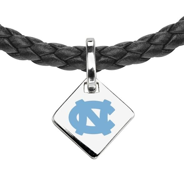 North Carolina Leather Necklace with Sterling Silver Tag - Image 2