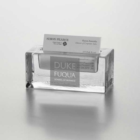 Duke Fuqua Glass Business Cardholder by Simon Pearce