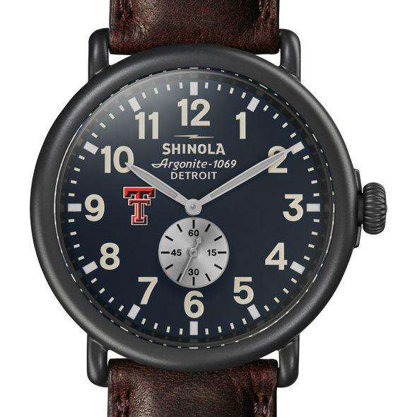 Texas Tech Shinola Watch, The Runwell 47mm Midnight Blue Dial