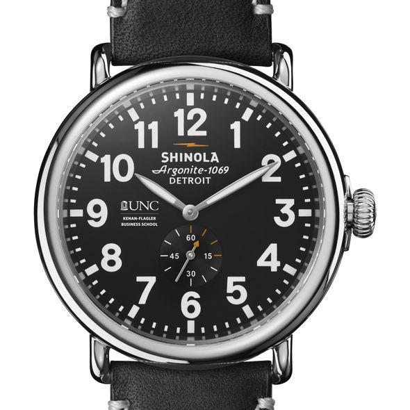 UNC Kenan-Flagler Shinola Watch, The Runwell 47mm Black Dial