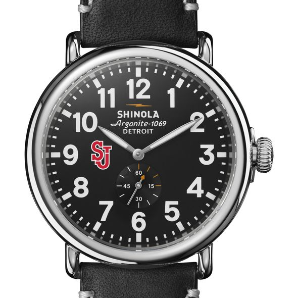 St. John's Shinola Watch, The Runwell 47mm Black Dial - Image 1