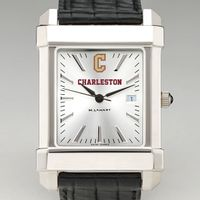 College of Charleston Men's Collegiate Watch with Leather Strap