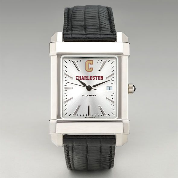College of Charleston Men's Collegiate Watch with Leather Strap - Image 2