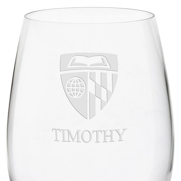 Johns Hopkins University Red Wine Glasses - Set of 2 - Image 3