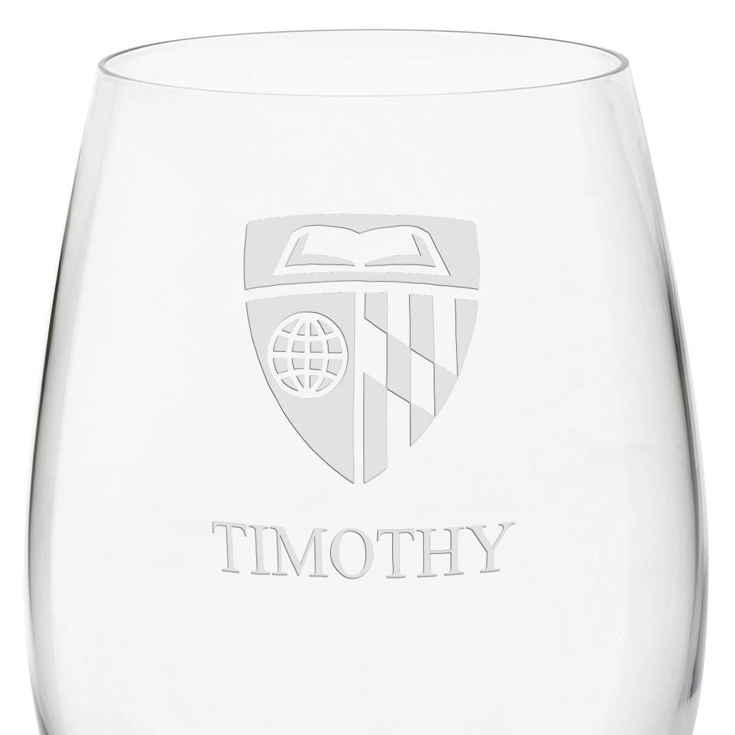 Johns Hopkins University Red Wine Glasses - Set of 2 - Image 3