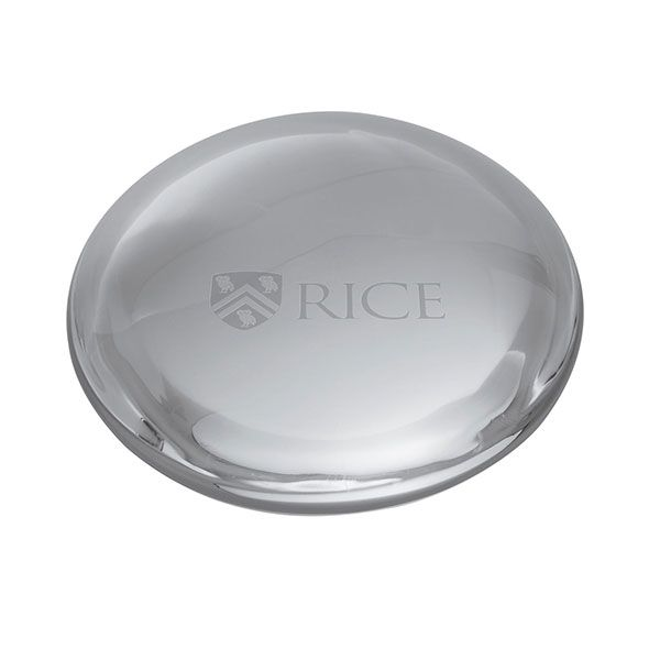 Rice University Glass Dome Paperweight by Simon Pearce