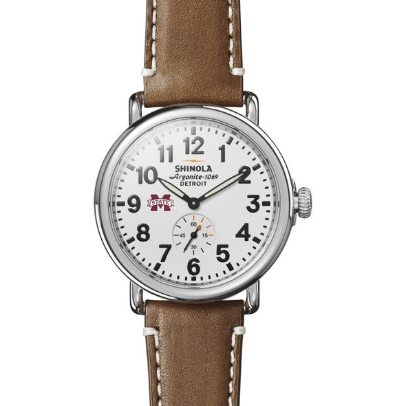 MS State Shinola Watch, The Runwell 41mm White Dial - Image 2
