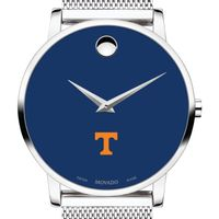 University of Tennessee Men's Movado Museum with Blue Dial & Mesh Bracelet