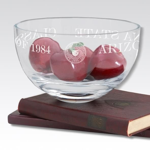 "ASU 10"" Glass Celebration Bowl - Image 2"
