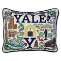 Yale Embroidered Pillow - Image 1