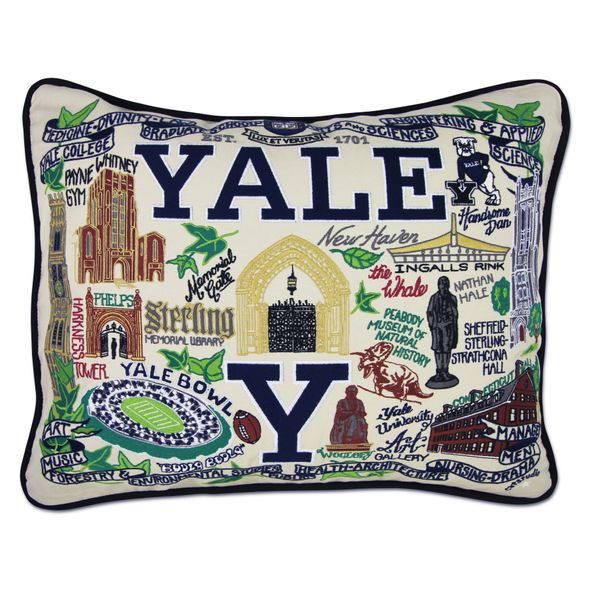 Yale Embroidered Pillow