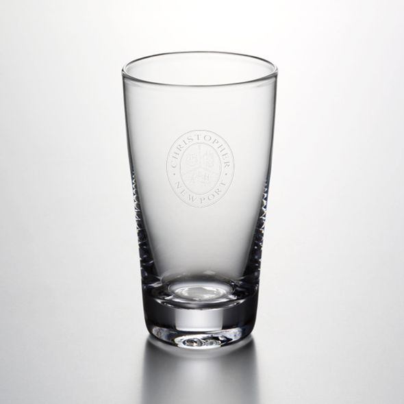 Christopher Newport University Ascutney Pint Glass by Simon Pearce