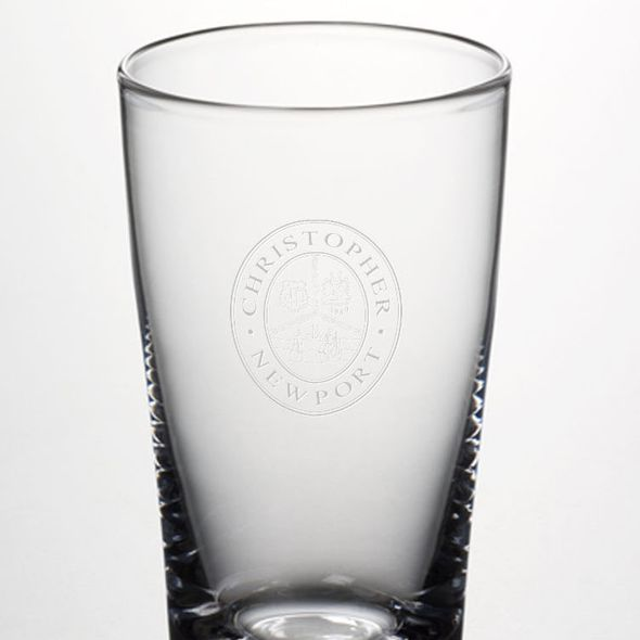 Christopher Newport University Ascutney Pint Glass by Simon Pearce - Image 2