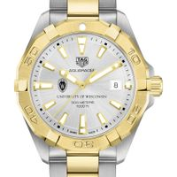 University of Wisconsin Men's TAG Heuer Two-Tone Aquaracer