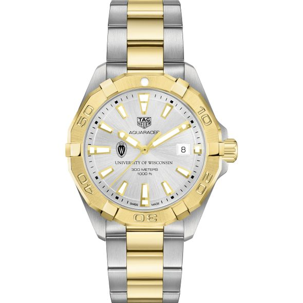University of Wisconsin Men's TAG Heuer Two-Tone Aquaracer - Image 2