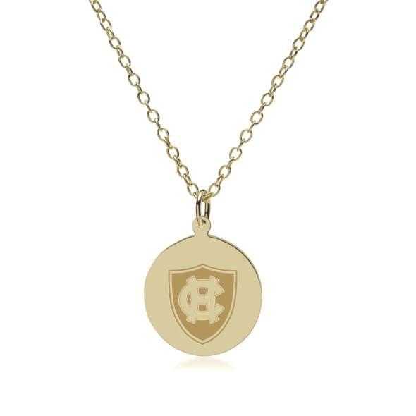 Holy Cross 18K Gold Pendant & Chain - Image 2