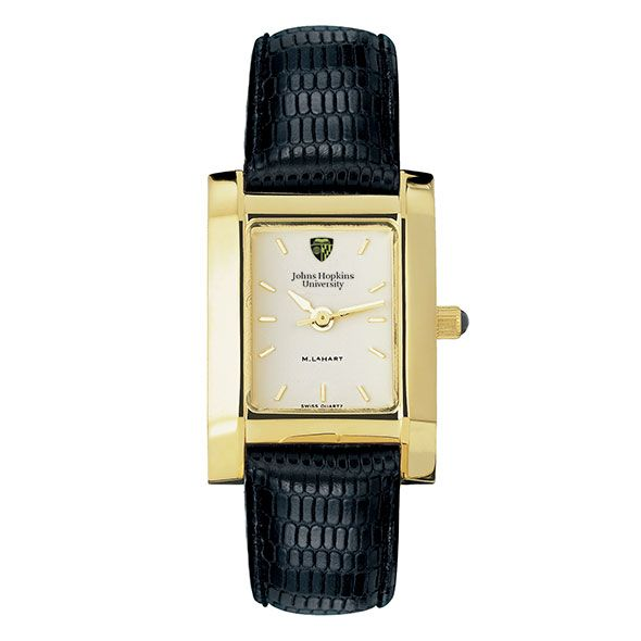 Johns Hopkins Women's Gold Quad Watch with Leather Strap - Image 2