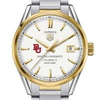 Boston University Men's TAG Heuer Two-Tone Carrera with Bracelet