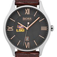 Louisiana State University Men's BOSS Classic with Leather Strap from M.LaHart