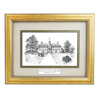 Framed Pen and Ink William & Mary Print