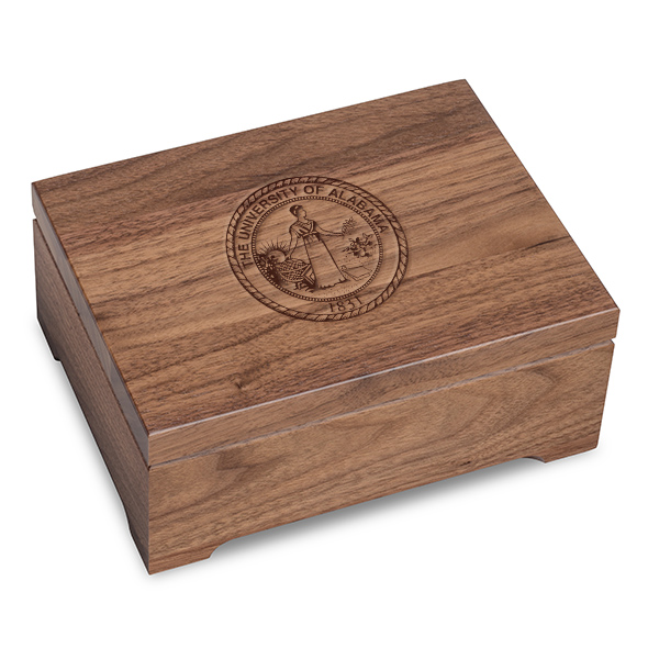 University of Alabama Solid Walnut Desk Box