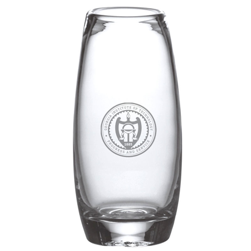 Georgia Tech. Glass Addison Vase by Simon Pearce