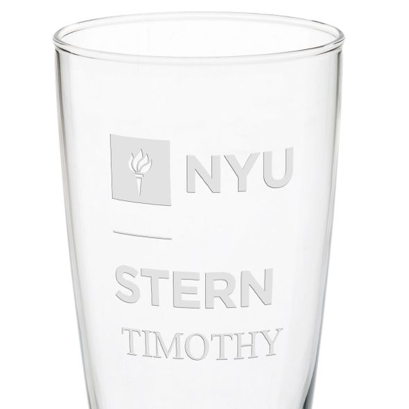 NYU Stern 20oz Pilsner Glasses - Set of 2 - Image 3