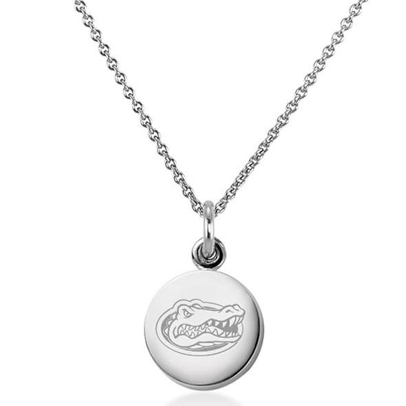 University of Florida Necklace with Charm in Sterling Silver - Image 1