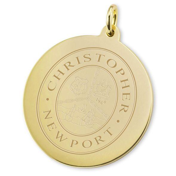 Christopher Newport University 18K Gold Charm - Image 2