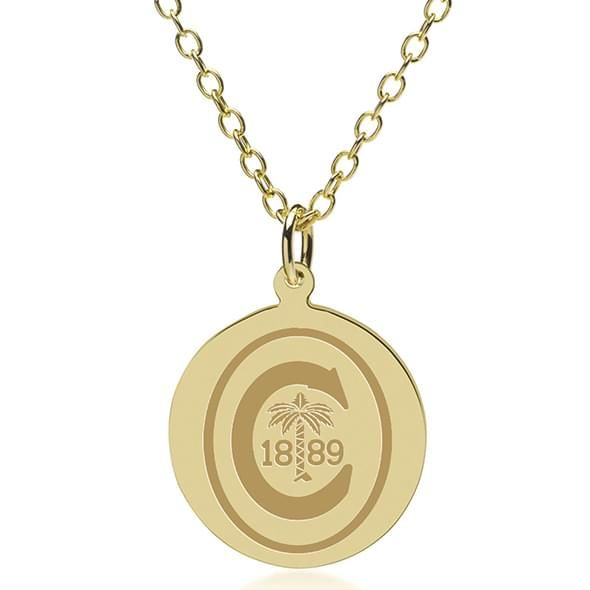 Clemson 18K Gold Pendant & Chain