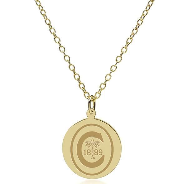 Clemson 18K Gold Pendant & Chain - Image 2