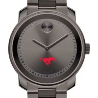 Southern Methodist University Men's Movado BOLD Gunmetal Grey