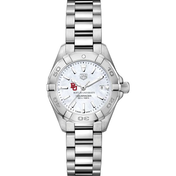 Boston University Women's TAG Heuer Steel Aquaracer w MOP Dial - Image 2