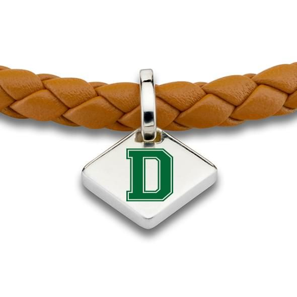 Dartmouth Leather Bracelet with Sterling Silver Tag - Saddle - Image 2