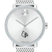 Louisville Women's Movado Bold with Crystal Bezel & Mesh Bracelet