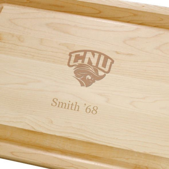 Christopher Newport University Maple Cutting Board - Image 2