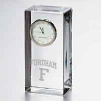 Fordham Tall Glass Desk Clock by Simon Pearce