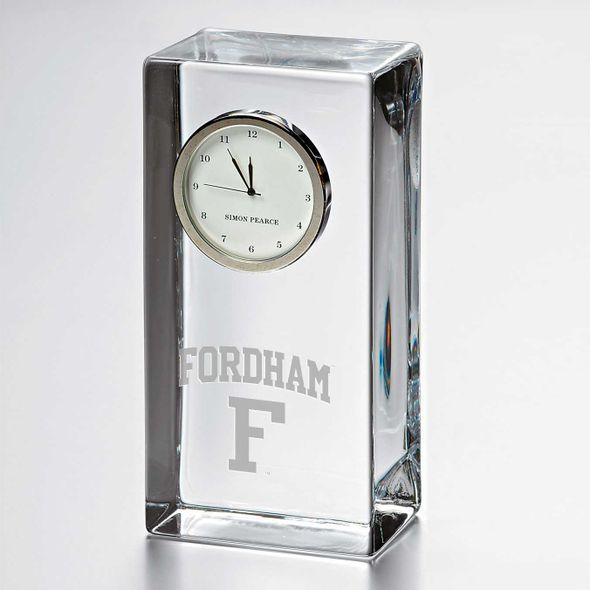 Fordham Tall Glass Desk Clock by Simon Pearce