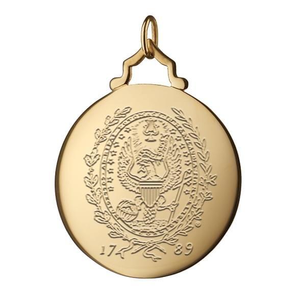 Georgetown Monica Rich Kosann Round Charm in Gold with Stone - Image 2