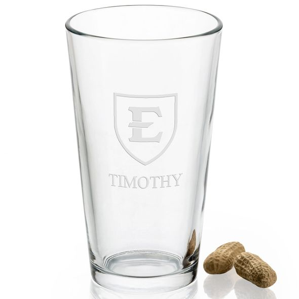 East Tennessee State University 16 oz Pint Glass - Image 2